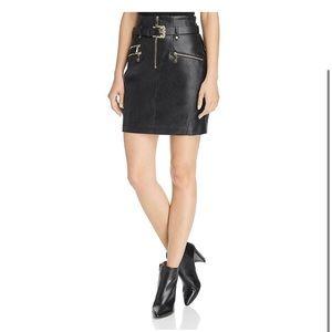 Guess High Waisted Jenny Moto Skirt | Black